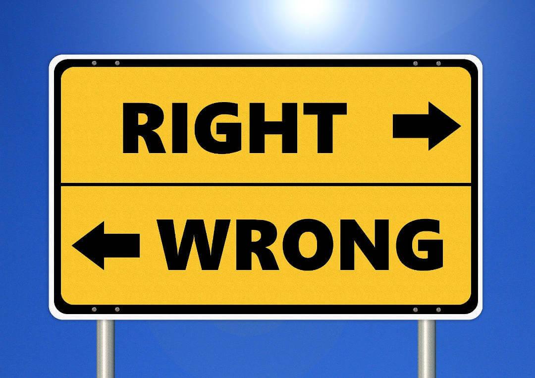 Ethik als Mann - Right or Wrong - Richtig oder Falsch
