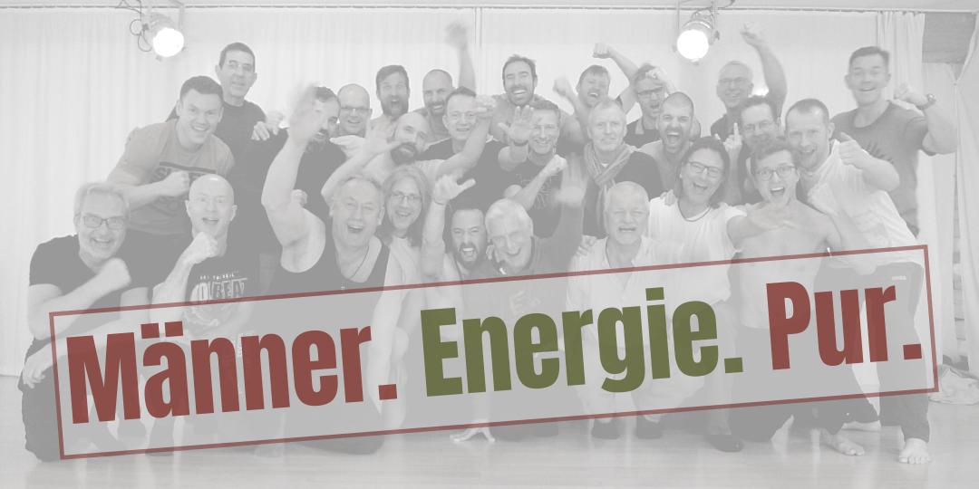 Banner Männer. Energie. Pur.